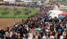 الصحة في غزة: 58 إصابة إثر اعتداء الجيش الاسرائيلي على المشاركين في مسيرات العودة
