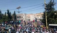 تشييع نائب رئيس بلدية عرسال السابق احمد الفليطي في عرسال