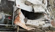 النشرة: العاصفة خلفت أضرارا مادية في مخيم عين الحلوة بصيدا