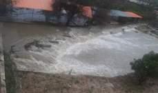 النشرة: ارتفاع منسوب مياه نهر الحاصباني بسبب الأمطار وذوبان الثلوج