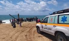 الدفاع المدني: نقل طفل سوري الجنسية من شاطئ الروشة إلى المستشفى.