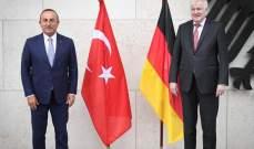 """جاويش أوغلو بحث مع زيهوفر بالوضع الصحي في تركيا للسياح الألمان ومكافحة """"بي كا كا"""""""