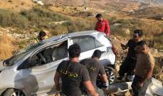 سقوط جريح بحادث سير على طريق ترشيش زحلة