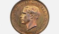 بيع بنس عليه صورة الملك إدوارد الثامن بـ165 ألف دولار أميركي