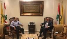 عميد الخارجية بالقومي التقى مسؤول العلاقات الخارجية في حزب الله