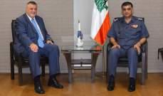 اللواء عثمان عرض مع سفير الاتحاد الاوروبي في لبنان وكوبيش الاوضاع بالبلاد