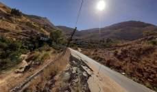 بلدية تنورين: على وزارة الأشغال التحرك فورا لصيانة طريق تنورين- حدث الجبة
