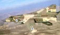 النشرة: غارات للطيرانالسوري على جرد عرسال استهدف فيها تجمعات للمسلحين