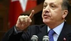 موكب رئيس الحكومة التركية رجب طيب أردوغان يتعرض لحادث سير