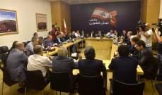 لبنان القوي: مهلة المئة يوم للحكومة بدأت وملف النزوح يجب ألا يخضع للتجاذبات