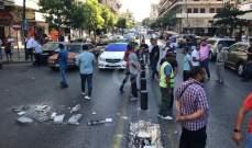 النشرة: محتجون قطعوا الطريق الرئيسية في شارع رياض الصلح وسط صيدا