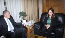 وزيرة العمل التقت سفير بعثة الاتحاد الاوروبي ونقيب الاطباء