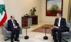 أديب من بعبدا: إتفقت مع الرئيس عون على اللقاء يوم غد عند الساعة 11 صباحا