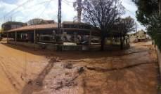النشرة: دخول المياه الى المنازل في علي النهري نتيجة الامطار الغزيرة