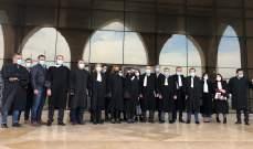 محامو الجنوب علّقوا حضورهم الجلسات ونفذوا وقفة احتجاجية رفضا للاعتداء على زميلهم حدشيتي