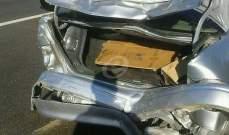 التحكم المروري: تصادم بين 3 سيارات على اوتوستراد الكرنتينا