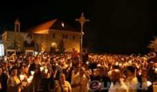 قداس ومسيرة صلاة لمناسبة عيد القديس شربل في عنّايا