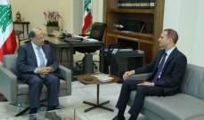 الرئيس عون عرض مع خضر الأوضاع الأمنية ببعلبك والمشاريع التنموية
