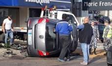 اليازا: وفاة شاب نتيجة إنقلاب سيارة على طريق ذوق مصبح