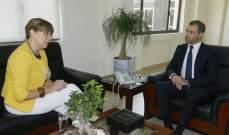 أفيوني عرض مع سفيرة أستونية سبل التعاون التكنولوجي
