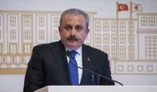 رئيس البرلمان التركي: إن كان ماكرون مهتما بالسلام بليبيا فعليه التخلي عن جر البلاد للفوضى عبر دعمه حفتر