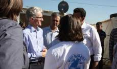 مسؤول في وزارة التنمية الدولية تفقّد النازحين السوريين في البقاع