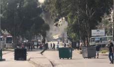 صوت لبنان: قطع طريق الشفروليه بالإطارات المتشعلة