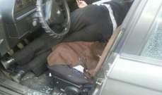 المباحث الجنائية تكشف على سيارة الشيخ غية في طرابلس