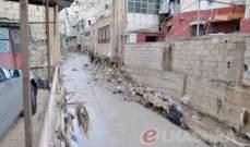 إرتفاع منسوب نهر الغدير في حي السلم وتخوف من فيضانه