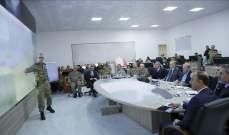 أردوغان زار مركز قيادة القوات البرية على الحدود السورية