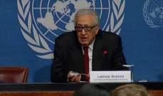 الابراهيمي: في سوريا لايوجد حل عسكري ولابد من وقف تدفق الأسلحة