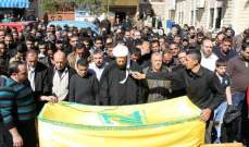 بلدة عين قانا شيعت ابنها عباس حمود الذي استشهد بانفجار بئر حسن