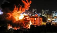الطيران الحربي الإسرائيلي يستهدف عدة مواقع في قطاع غزة