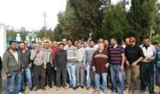 النشرة:عمال مصلحة لبنان الجنوبي اعتصموا مطالبين بإدخالهم لملاك المؤسسة