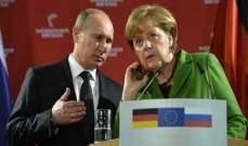 بوتين وميركل وبوروشينكو بحثوا عبر الهاتف تسوية الوضع في شرق أوكرانيا