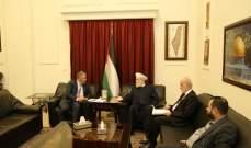 المفتي قباني زار السفير الفلسطيني متضامنا