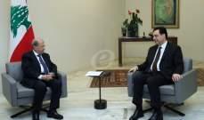 الرئيس عون التقى حسان دياب قبيل اجتماع المجلس الأعلى للدفاع