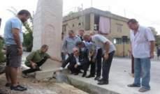 بلدية رشعين دشنت مشروعا للري في البلدة