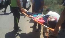 النشرة: جريحة نتيجة انقلاب سيارة من بلدة زوطر الشرقية