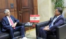 ابراهيم بحث مع سفير الجزائر الجديد الأوضاع العامة وسبل التعاون