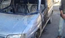 النشرة: احراق رابيد للسوري احمد الحمادة في بلدة زوطر الشرقية فجرا