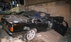 النشرة: جريحان نتيجة حادث سير مروع على طريق عام مكسة