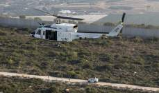 النشرة: تحليق مروحية تابعة لقوات اليونيفيل فوق الخط الأزرق في القطاع الشرقي