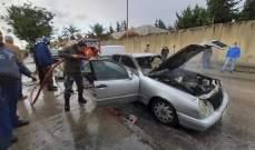 النشرة: إخماد حريق سيارة أجرة في حارة صيدا