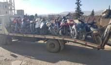 قوى الأمن: مفرزة سير زحلة احتجزت عددا من الدراجات الآلية المخالفة