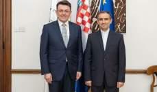 رئيس غرفة التجارة في كرواتيا: مهتمون بتنمية العلاقة مع إيران