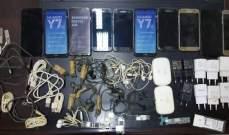 قوى الأمن: توقيف شخص حاول إدخال أجهزة خلوية ولوازمها إلى سجين في رومية