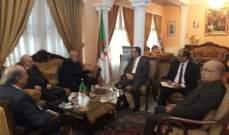 حمدان زار مقر السفارة الجزائرية في بيروت مهنئا بانتخاب رئيس للجمهورية