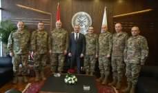 بوصعب التقى قائد الجيش وأعضاء المجلس العسكري وسليم كرم ووهاب