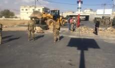 النشرة: الجيش اللبناني أعاد فتح طريق المرج في البقاع الغربي